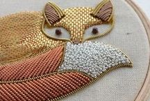 Beads on Fabric