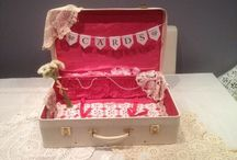 Wedding post boxes / Royal Mail post boxes, unusual card boxes, bird cages, vintage suitcases, picnic baskets for cards, vintage bike deco for weddings, parties and special events. inspiration board by affinity event decorators swansea