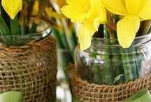 Welsh wedding theme / Welsh themed wedding inspiration including daffodils and Welsh cakes.  Inspiration board for weddings, parties and special occasions by affinity event decorators, Swansea, Wales
