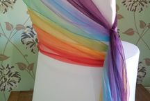 Rainbow weddings and parties / Ideas and inspiration for a rainbow themed wedding, party or special event.  Chair covers, centrepieces, flowers and more.  Affinity event decorators are based in Swansea and hire venue decor to South Wales.
