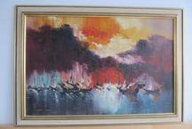 Mid Century Oil Paintings