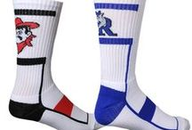 Custom Socks / The perfect finishing touch to any softball or basketball uniform is a pair of #customsocks. Of course, they're a great way to show team spirit when the game is over, too. So if the world is going to see your socks, let them see your team colors, your mascot, or your team name. Let the world see who's team you're on and where your loyalties lie.