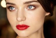 Beautifying / Makeup. Lips. Eyeshadow.