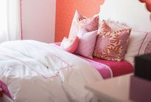 KELLY'S BEDROOM / Orange and pink / by Stephanie Shaw Design