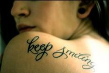 Tattoos / Some inspiration for tattoos. Font, size and position.