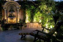 Zahrada v noci / Garden at night, Garten in der Nacht, Jardin de nuit, Jardín en la noche, Jardim à noite, Сад ночью, 花园在夜间, Garden in die nag, Giardino di notte