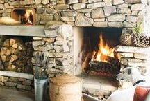 Fireplaces For Your Outdoor Pleasure / Backyards that are kept warm with fire features.