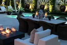 Outdoor Living Spaces / Pool lounges insure that whether swimming or not everyone has a place to relax.