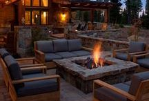 Backyard Fire Pit / Backyard fire pits are a great way to bring family and friends together year round.