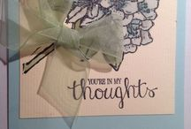 Best Thoughts Stamp set cards
