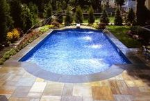 Paver Pool Decks / great way to add your own style to a pool deck