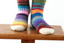 Socks / Crochet and knit socks, slippers, leg warmers
