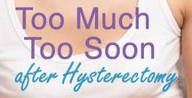 Hysterectomy & Menopause
