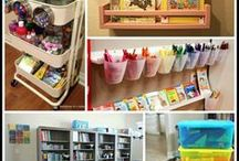 Homeschool Room / Examples & Ideas for homeschool rooms.  Get inspiration & tips on how you can organize your homeschool learning area.