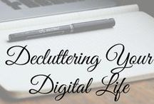 Organize: Digital / Tips to help you clean out your digital clutter, get organized, and run your home business smoothly and efficiently! #digitalorganization #digitalclutter