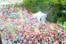 Beach on Fire / BioColorRun / Fireworks / Musical fireworks, BioColorRun and Beach on Fire. An explosion of colors and fun!