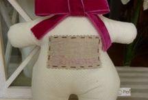 MIS OSITOS PERSONALIZADOS / Ositos de tela personalizados con el nombre del niño.