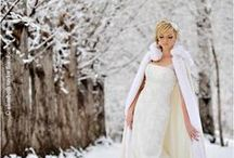 Winter Wonderland Weddings / Are you an ice princess who dreams of snow and the warmth of a roaring fire? Indulge in our winter wonderland of inspiration!