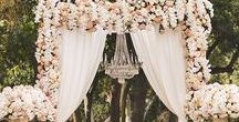 Down the Aisle / Petal perfect and design worthy inspiration for your walk down the aisle on your wedding day.