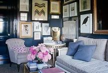 stylish walls and vignettes