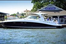 Grand Lake Boating / Grand Lake is a boater's dream with conditions perfect for everything from sailing to large yachts, ski boats and small fishing boats.