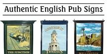 Authentic English Pub Signs / A collection of one-of-a-kind authentic English pub signs.