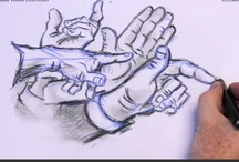 How to Draw Hand Positions / Easy way to learn how to draw different hand positions. Free online tutorial. / by How To Draw