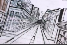 How to Draw a City in One Point Perspective / Learn how to draw a city in one point perspective with the professional artist. / by How To Draw