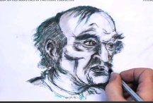 How to Draw an Old Man's Face in Two Point Perspective / Learn how to draw an old man's face in two point perspective with the professional artist. / by How To Draw