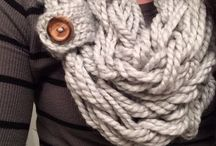Knit scarves/shawls