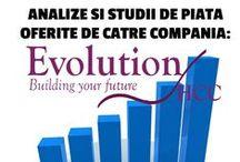 Infographics / Analize si studii de piata oferite de catre compania Evolution HCC