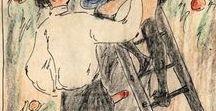 """Alexander Székely (1901-1968) - """"Calendrier"""" / Com notas traduzidas em francês..."""