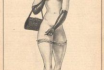 """Jacques Le Tord / """"Jacques Le Tord est selon moi l'un des plus originaux dessinateurs de filles sexy des années 1950 mais vous avez le droit de ne pas partager mon avis... Principalement publié dans la superbe revue Pigalle, le Tord a produit un grand nombre d'illustrations toutes aussi belles les unes que les autres"""" - http://eureka.soup.io/post/5633241/Jacques-Le-Tord-one-of-my-favorites"""