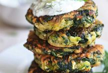 Veggie Burgers and Fritters