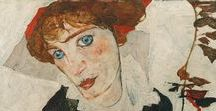 Egon Schiele (1890-1918) / Born: 12 June 1890; Tulln an der Donau, Austria; Died: 31 October 1918; Vienna, Austria;  Art Movement: Expressionism; Painting School: Vienna Secession; Influenced by: Gustav Klimt, Vincent van Gogh, Jan Toorop, Edvard Munch, Wassily Kandinsky Genre: nude painting (nu), self-portrait