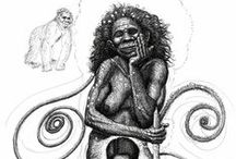 Being Human. Art by Naja Abelsen / Drawings about being human, being Love, being poetic...living meditation...