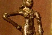 Goddess, ancient women figurines