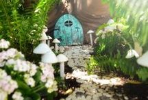 Fairy Garden Inspirations / Miniature gardens for fairies can include tiny furniture and structures, living plant life and maybe even a fairy or two :) Fairy gardening is great fun for all ages and a wonderful hobby to share with a child or grandchild to grow the gardener in them :)