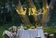 Garden Chandeliers / A beautiful way to add light and style to your garden space!
