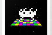 space invader stuff