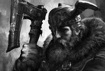 Scandivanian-Nordic-Dwarven-Barbarian / Character, Enviroment etc. Desingn