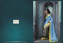 Victoria Queen / Designer Printed saree