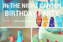 In The Night Garden Party / In the Night Garden birthday party. Cake, balloons, decorations... All things Iggle Piggle, Makka Pakka and Upsy Daisy.
