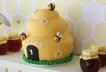 Bee Birthday Party Inspiration / Ideas for David's bee them 1st birthday party.