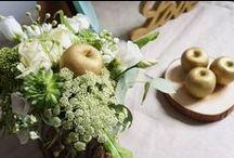 [RÉALISATIONS] Mariage Jardin d'Eden - Dessine-moi une étoile / Mariage Rustique chic - Menthe et Doré - Design et Papeterie : Dessine-moi une étoile - Compositions florales : Fée moi une fleur