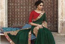 HEENA / Designer Embroidered Sarees