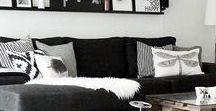 Home |  Black and White / Home-style inspiration courtesy of a little black and white and a touch of monochrome.