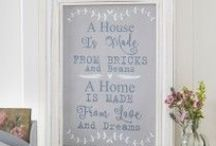 Wall Art / Looking for the ideal quote to hang on your wall? Sometimes how ever hard you look, you just can't find it. I am providing a collection of UK sourced quotes and hanging plaques for the decor addicts our there!