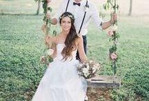 Enchanted wedding swings and flower swings / Flowers Swing and Enchanted Wedding swings hanging from trees or timber frames make the most amazing props for your wedding pictures