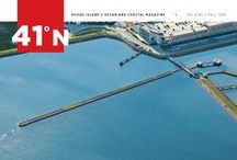 41˚N / Rhode Island's Ocean and Coastal Magazine, a publication of Rhode Island Sea Grant and the Coastal Institute at the University of Rhode Island. This biannual magazine examines climate change, marine commerce and recreation, ecology and habitats, ocean planning, and the history of Rhode Island's coastal and marine landscape.